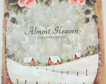 """Vintage Decorative used painting book """"Almost Heaven"""" tole painting by Elaine Thompson 31 pages"""