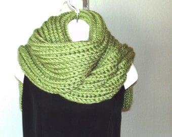 Chunky Rib Scarf Shawl PDF knitting pattern - instant download.
