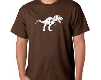 Men's T-shirt - Tyrannosaurus Rex Created using popular Dinosaur Name