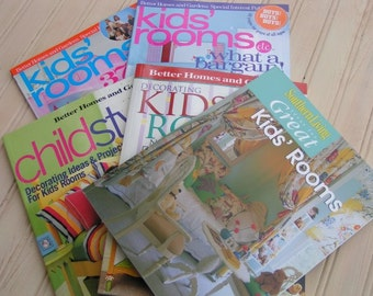SALE!!  Kids Room Decor Books, Magazine Bundle, Kids Rooms, Idea Books, Design Books