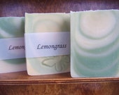 Lemongrass Soap -  Handmade soap with Shea and Cocoa Butter -  Handmade in BC, Canada