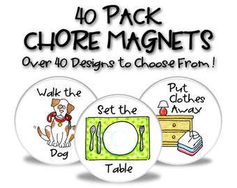 Chore Magnets - 40 Pack