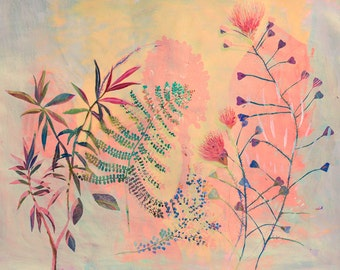 Botanical garden - illustration - screen print - glicee print