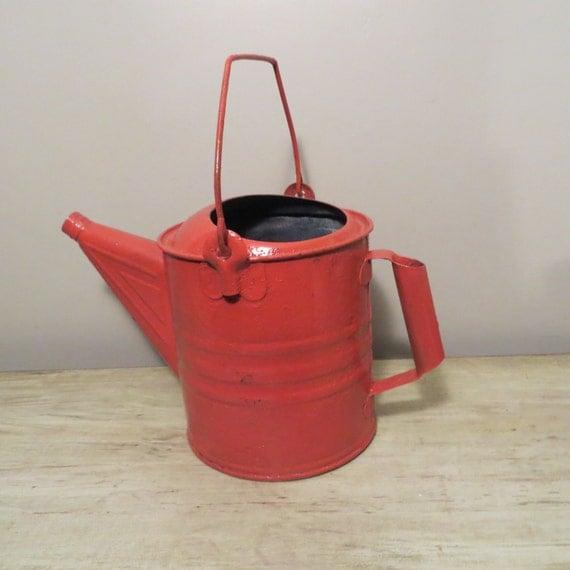 Vintage galvanized bucket red water bucket by ozdoingitagain for Galvanized well bucket