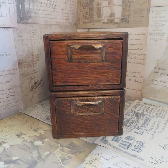 Vintage Library Card Catalog Wooden Library Card by