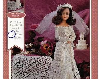 Beautiful Bride Crochet  Doll Pattern Fibre Craft  FCM468