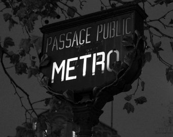 Paris decor gothic art black and white art photography print art Paris retro signboard dark art France Europe 4x6 5x7 6x8 8x10 10x15