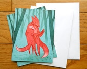 Greeting cards; fox trot foxes
