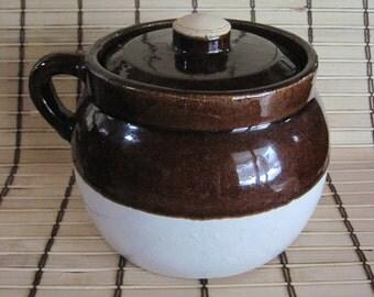 Classic Stoneware Bean Pot