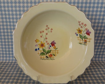 Vintage Serving Bowl, WS George China Bowl, Lido, Gaylea Canary Tone Bowl, Tulips and Spring Flowers