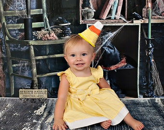 Candy Corn Hat - Perfect Newborn or Infant Halloween Photography Prop