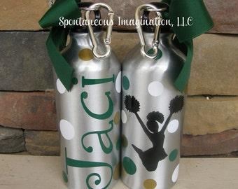 Personalized Sport Water Bottle- Cheerleading Gift Idea