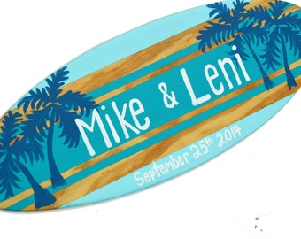 Personalized Turquoise Beach Wedding Sign for your Beach Themed Wedding Decor - 18 inch