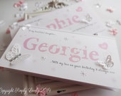Beautiful 'Name' Butterfly Card!