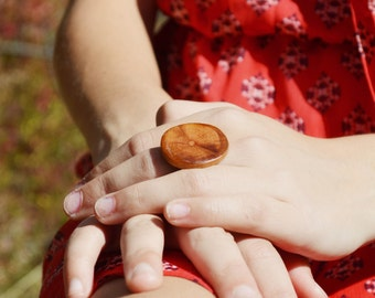 Wooden Statement Ring . Wood statement Ring. Rustic jewelry Wood Ring, eco friendly jewelry, wood jewelry, Starlight Woods
