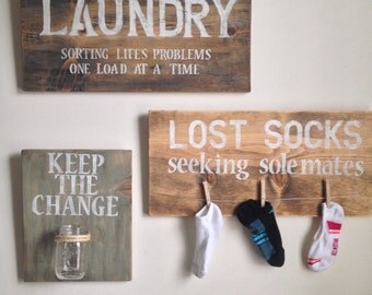 Laundry Wall Decor Classy Laundry Room Decor  Etsy Design Decoration
