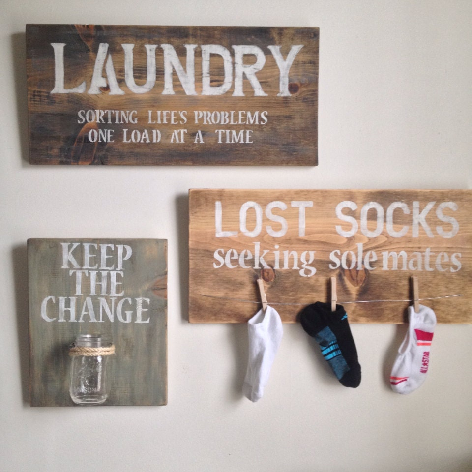 Laundry room decor by shoponelove on etsy for Room decor etsy