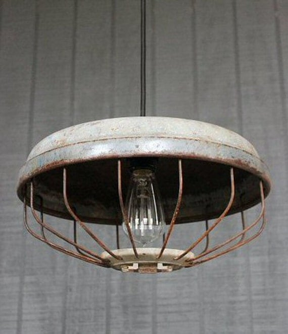 Vintage And Industrial Lighting From Etsy: Items Similar To Vintage Industrial Pendant Lighting