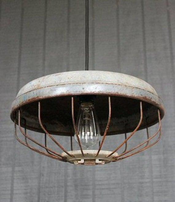 Items Similar To Vintage Industrial Pendant Lighting