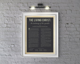 The Living Christ: The Testimony of the Apostles LDS Modern Design