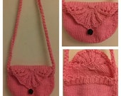 """Made to Order: Hand Knitted """"Sweet Rose"""" Purse (8 colors to choose from!!!)"""