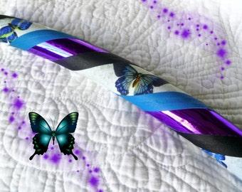 Violet Flutter Dance & Exercise Hula Hoop COLLAPSIBLE or Push Button - purple blue black