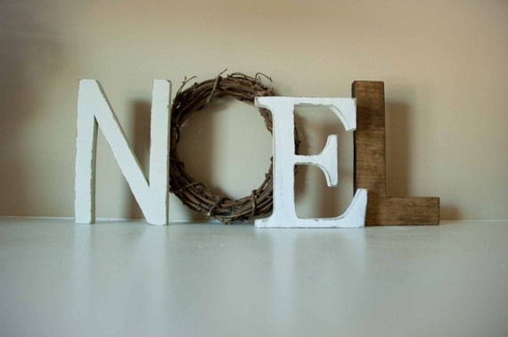 Noel letters christmas decor mantle decor christmas gift - Decorations exterieures de noel ...
