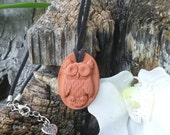 3D OWL Terra cotta Essential Oil Diffuser Pendant for Aromatherapy Necklace