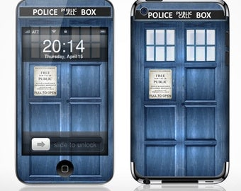 Apple iPod Touch 2g 3g 4g 5g Case Decal Skin Cover - Police Public Call Box