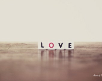 love, valentine, typography, fine art photography