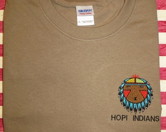 Embroidered Hopi American Native Indian T Shirt