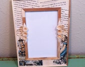 Alice in Wonderland Upcycled Frame With Paper Scrolling