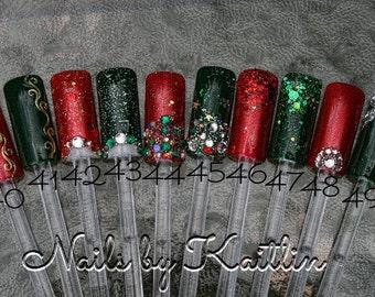 Custom Christmas Artificial Nail Art