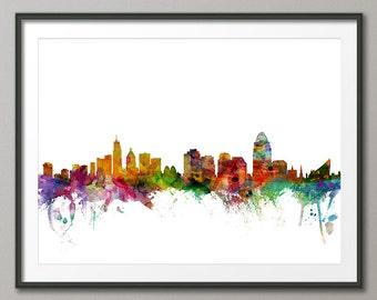 Cincinnati Skyline, Art Print (1206)