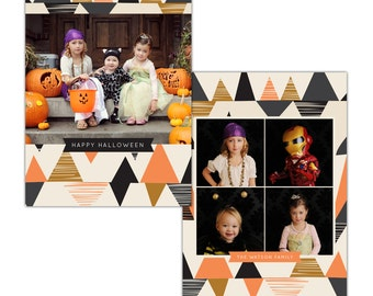 INSTANT DOWNLOAD -  Halloween Card Photoshop template - E1110