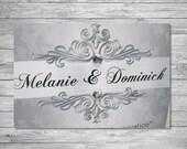 Custom engagement or Wedding Announcement or Invite.