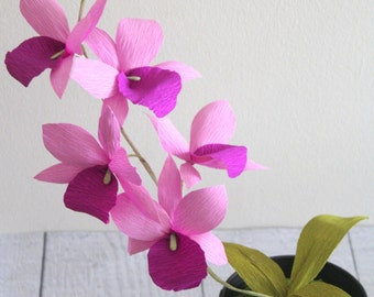Paper Orchid-Paper flowers,cattleya orchid