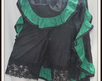 Renaissance Cosplay Black Widow  Bloomers with Two Layer Lace