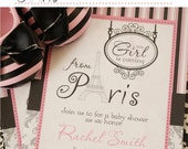 DIY Printable Personalized Paris Baby Shower Invitation - Baby Shower by Alegria Printables //BSpa-01