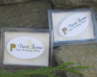 Aromatherapy Wax Melts, 100% Organic and All Natural Wax Melts/Tarts. 2 Packages of  Breakaway Wax Pieces. 11 Scents to choose from