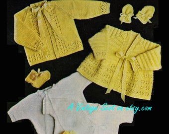 4453f3318 Baby 4ply Matinee Sets and Vests 18-20ins - M C 239 -PDF of of ...