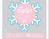 Snow Day Birthday Invitation, Winter Wonderland Invitation