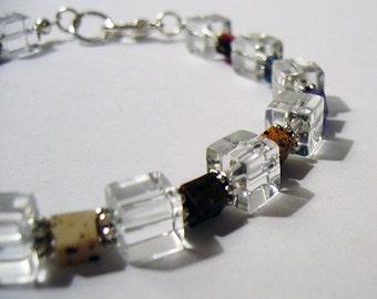 Cubic - Crystal Bead Bracelet