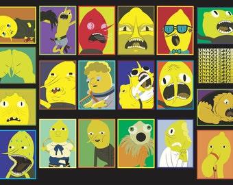 Earl of Lemongrab Mega Sticker Pk