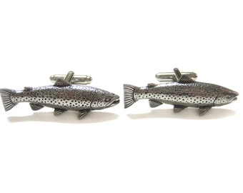 Trout Fish Pendant Cufflinks