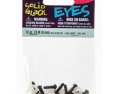 Solid Eyes with Plastic Washers - Black - 6mm - 10 pieces
