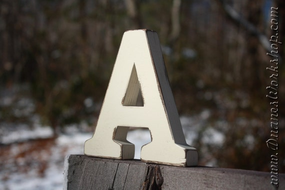 Items similar to 5 wedding table letters numbers stand for Standing wood letters to paint