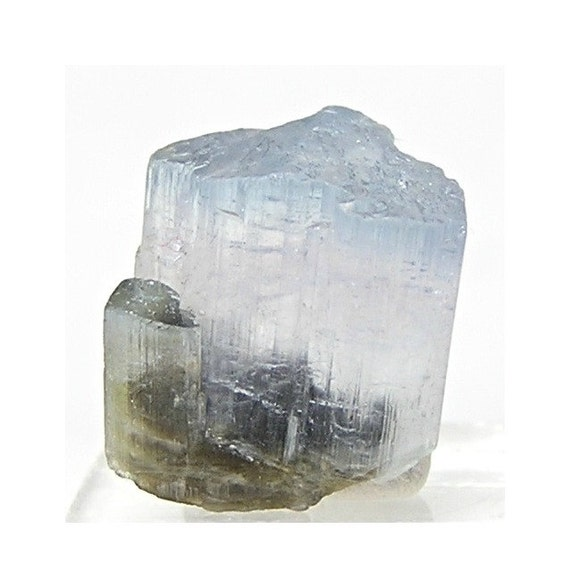 Blue Cap Pale Pink Tourmaline Crystal Gemstone Wrapping Talisman Indicolite - the Queen of Tourmaline