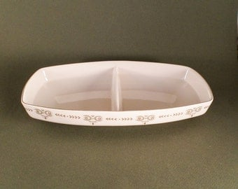 Franciscan China Heritage Pattern Divided Baking and Serving Dish, 1960's