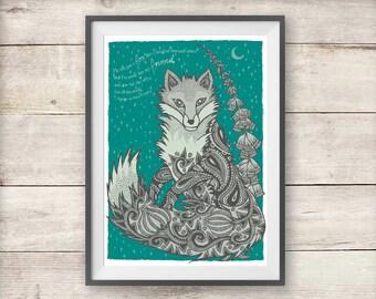 Fox Friend Print